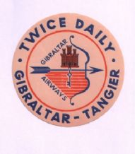 Airline label  Gibraltar luggage label #116